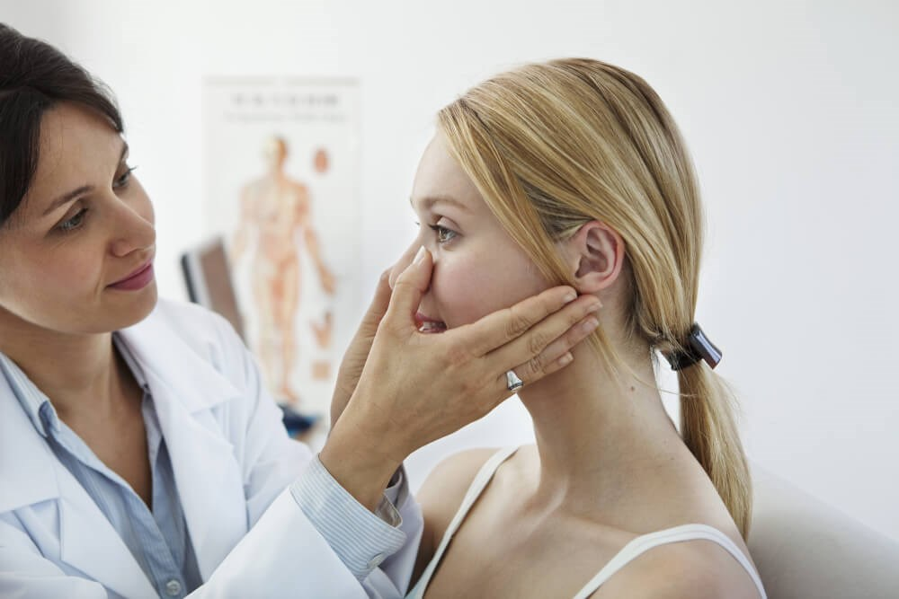 Doctor Feels Patient Face Phot