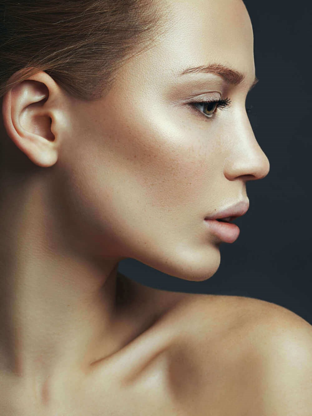 side profile of a woman